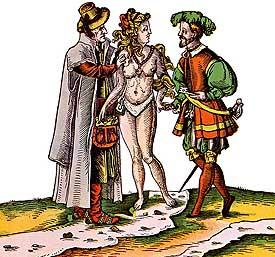 Ceinture de chasteté : caricature allemande datant de la Renaissance