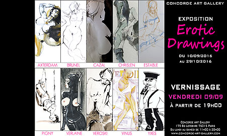 Erotic Drawings - expo Concorde Art Gallery