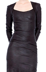 Erotique mais chic - robe cuir Jean-Claude Jitrois