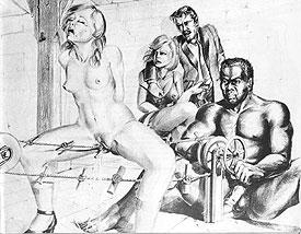 Tit torture torture sadique fouetter les photos de sang