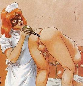 infirmière lubrique - dessin de Waldo