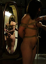 shibari dans le miroir - photo Paul Warner