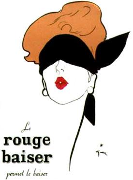 Publicité Rouge Baiser - 1949 - René Gruau