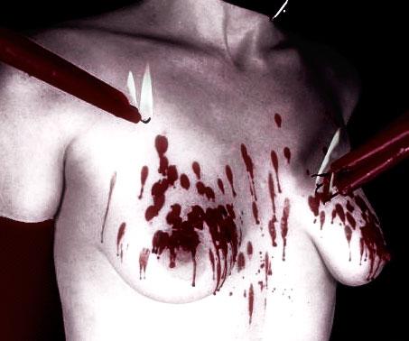 jeu de cire chaude sur buste de femme