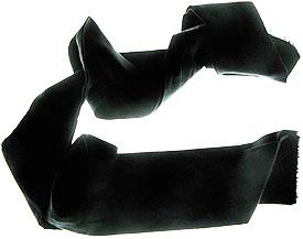 Foulard de soie noire
