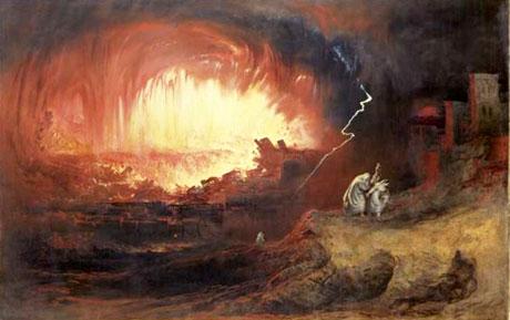 La destruction de Sodome - John Martin 1832